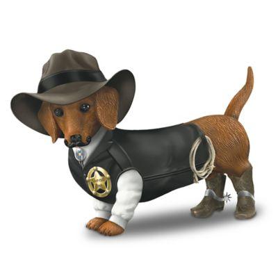 Sher Ruff S Paws Old West Dachshund Figurine