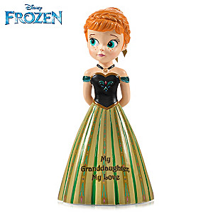 "Disney FROZEN ""My Granddaughter, My Love"" Anna Figurine"