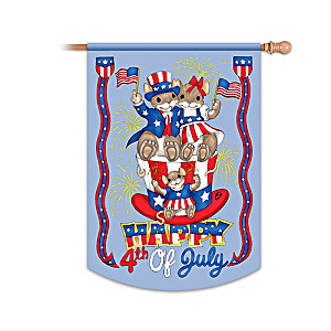 "Charming Tails ""4th Of July"" Decorative Flag"