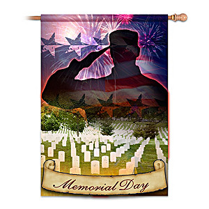 Memorial Day Decorative Flag