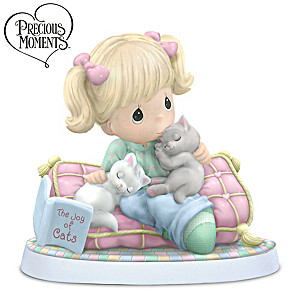 Precious Moments Figurine Celebrates The Joy Of Cats