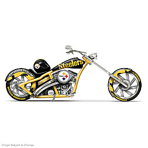 Pittsburgh Steelers Chopper With Black & Gold Paint Scheme