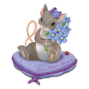 Charming Tails Alzheimer's Research Support Figurine