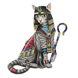 Cleo-CAT-tra Cat Figurine By Blake Jensen