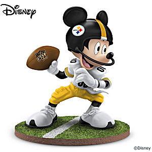 "Mickey Mouse Pittsburgh Steelers ""Quarterback Hero"" Figurine"