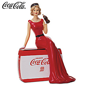 """Golden Moments"" 1940s Style COCA-COLA Girl Figurine"