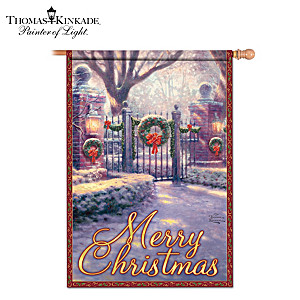 Thomas Kinkade Outdoor Decorative Christmas Flag