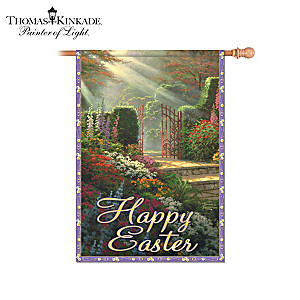 Thomas Kinkade Happy Easter Outdoor Decorative Flag