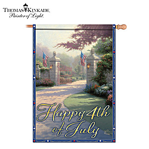Thomas Kinkade Outdoor Decorative 4th Of July Flag