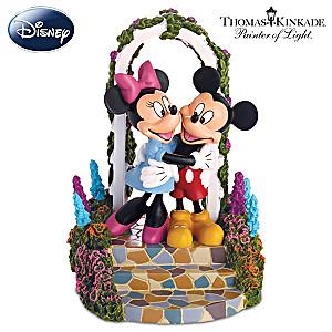 Mickey And Minnie Figurine Inspired By Thomas Kinkade Art