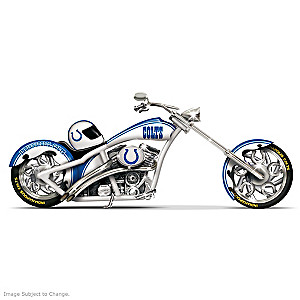 Indianapolis Colts Chopper With Silver And Blue Paint Scheme