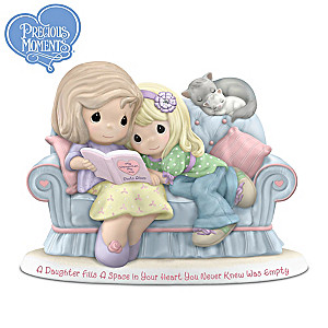 Precious Moments Mother And Daughter Porcelain Figurine