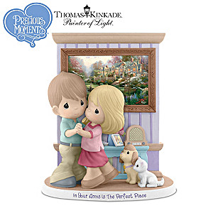 Precious Moments Figurine With Thomas Kinkade Art Print