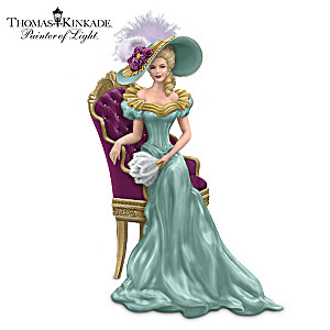 Thomas Kinkade Lady Figurine Inspired By His Victorian Homes