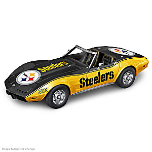 Pittsburgh Steelers Super Bowl X 1975 Corvette Sculpture