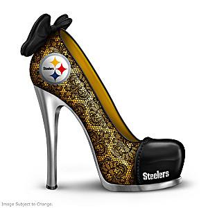 NFL-Licensed Pittsburgh Steelers High Heel Shoe Figurine