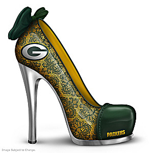 NFL-Licensed Green Bay Packers High Heel Shoe Figurine