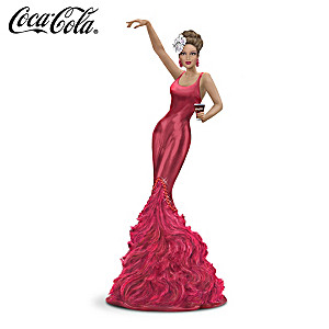 COCA-COLA Girl In Jazz-Era Dress With Feathers And Faux Gems