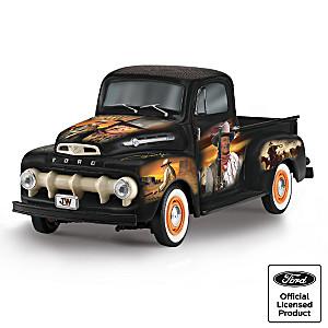 "John Wayne ""The Duke"" 1952 Ford F150 Truck Tribute Sculpture"