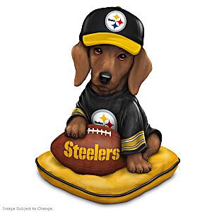 NFL-Licensed Pittsburgh Steelers Dachshund Figurine