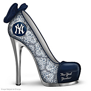 MLB-Licensed New York Yankees High Heel Shoe Figurine