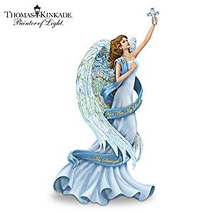 "Thomas Kinkade ""You Are My Soul, My Strength"" Angel Figurine"