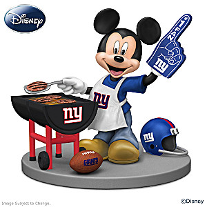 Mickey Mouse New York Giants Tailgating Figurine