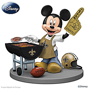 Mickey Mouse New Orleans Saints Tailgating Figurine