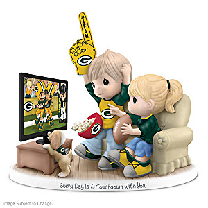 Precious Moments Green Bay Packers Fan Porcelain Figurine