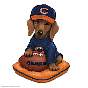 NFL-Licensed Chicago Bears Dachshund Figurine