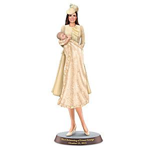 Duchess Catherine And Prince George Christening Figurine
