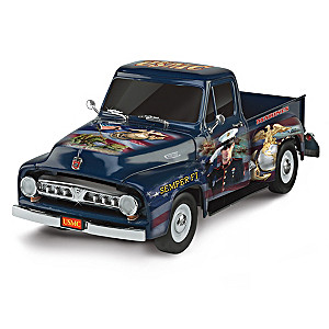 Sculpted 1:36-Scale Ford F-150 With James Griffin USMC Art