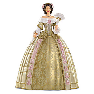 Queen Victoria Attends The Stuart Ball Fashion Figurine