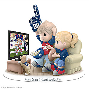 Precious Moments New York Giants Fan Porcelain Figurine