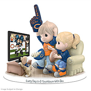 Precious Moments Chicago Bears Fan Porcelain Figurine