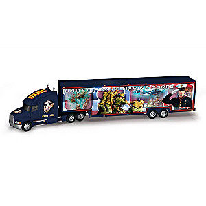 "USMC ""Proud To Serve"" 1:16-Scale Hauler With Marine Artwork"