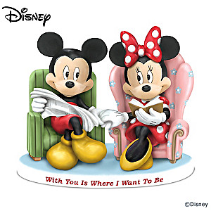 "Mickey And Minnie ""With You Is Where I Want To Be"" Figurine"
