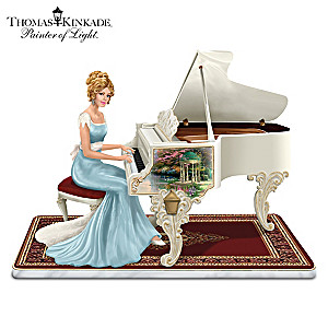 Thomas Kinkade Victorian Lady Plays Beethoven's Fur Elise