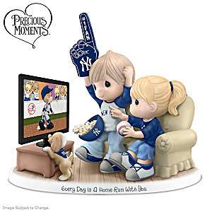 Precious Moments New York Yankees Fan Porcelain Figurine