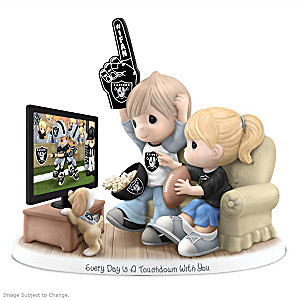 Precious Moments Oakland Raiders Fan Porcelain Figurine