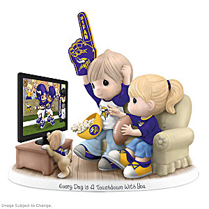 Precious Moments Minnesota Vikings Fan Porcelain Figurine