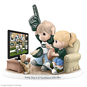 Precious Moments New York Jets Fan Porcelain Figurine