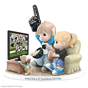 Precious Moments Carolina Panthers Fan Porcelain Figurine