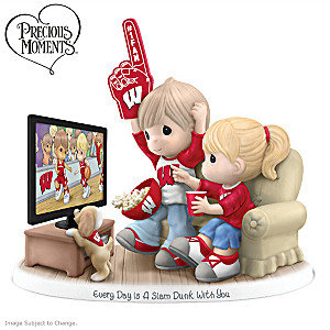 Precious Moments Wisconsin Badgers Fan Porcelain Figurine