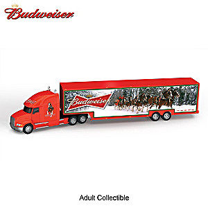 "1:64-Scale Budweiser Clydesdales ""Happy Holidays Hauler"""