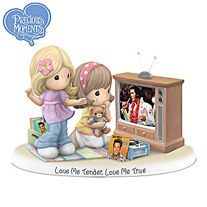 "Precious Moments ""Love Me Tender"" Elvis Fan Figurine"