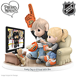 Precious Moments Anaheim Ducks® Fan Porcelain Figurine