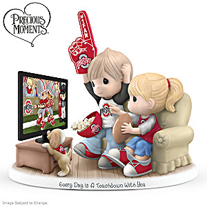 Precious Moments Ohio State Buckeyes Fan Porcelain Figurine