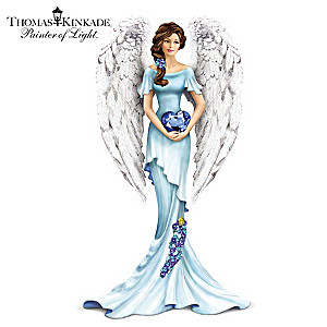 Thomas Kinkade Angel Figurine Supports Ovarian Health