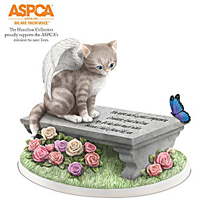 Cats Leave Paw Prints On Our Hearts Memorial Figurine